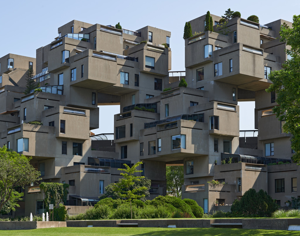 Brutalist architecture for Habitat 67 architecture